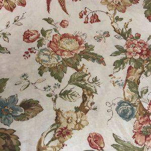 Pottery Barn Organic Cotton Duvet King Size Floral